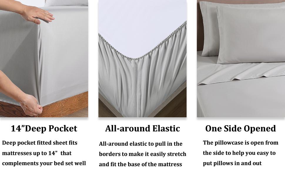 gray beding set