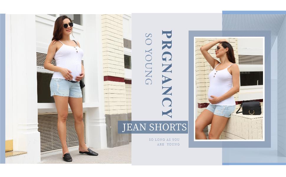 Maacie Maternity Jean shorts