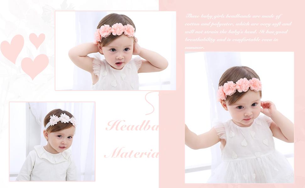 Accessoires cheveux pour bébé fille fleur rose