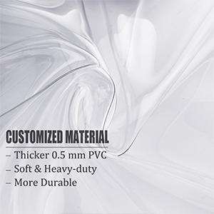 Sturdy PVC material