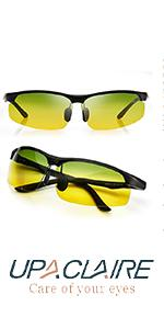 UpaClaire Night Vision Glasses Anti-glare High Definition Polarized Lens