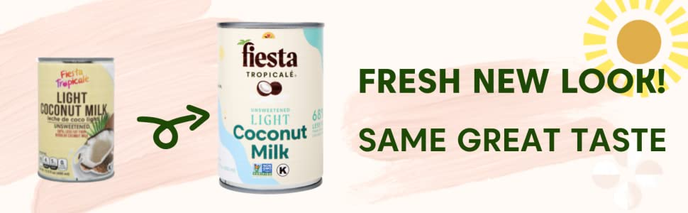 Fiesta Tropicale Light Coconut Milk Fresh New Look and Same Great Taste