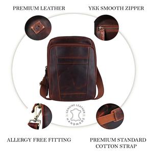 PICCO MASSIMO Leather Sling Bag