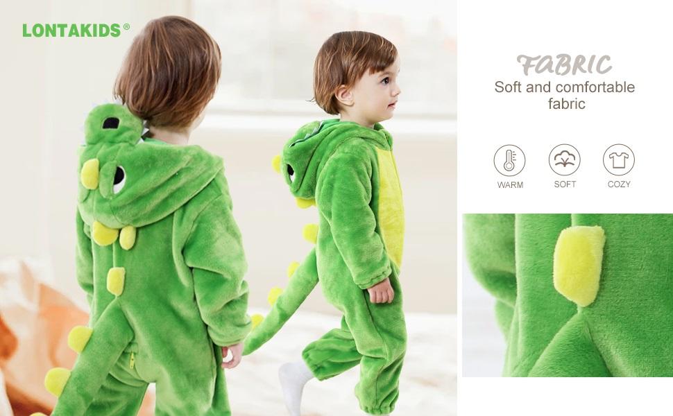 lontakids cozy dinosaur costume onesies