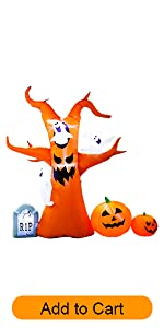 inflatable ghost tree decoration