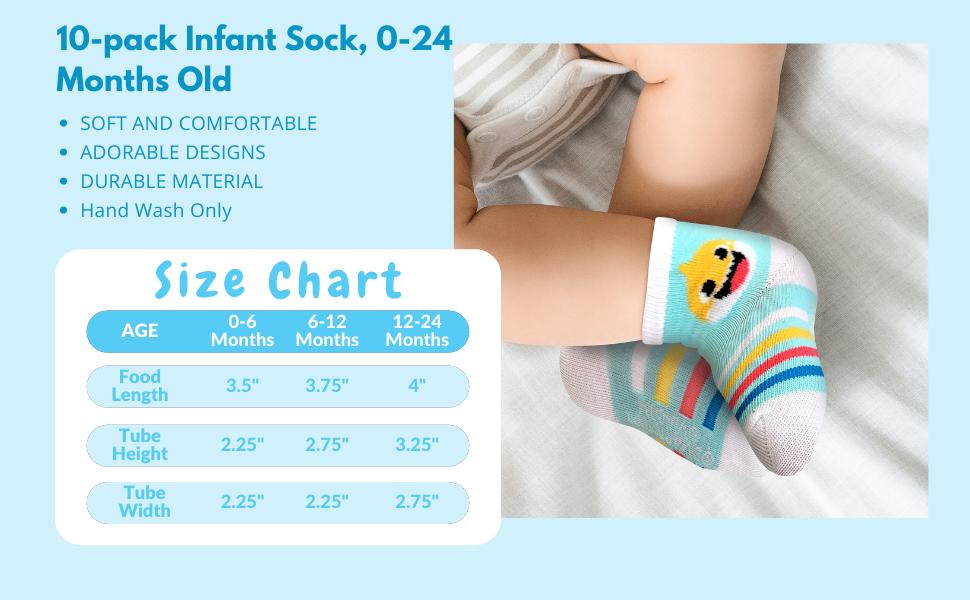 Baby Shark Baby Socks
