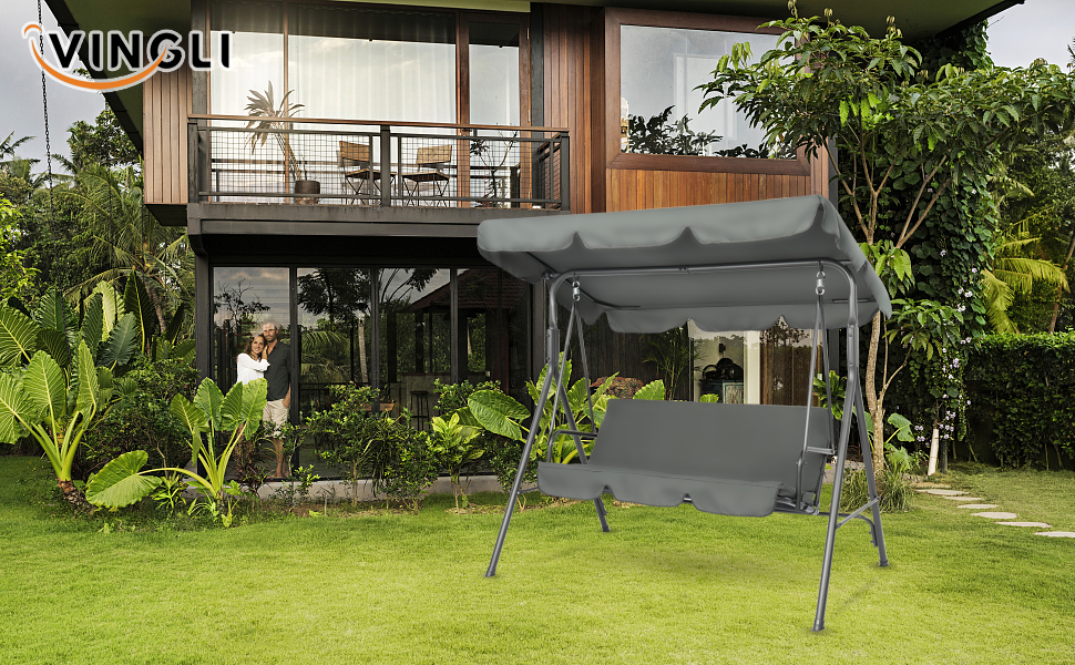 A+4 - porch swing with canopy stand