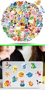 ViKiVi Cute Animal Stickers 100 Pcs