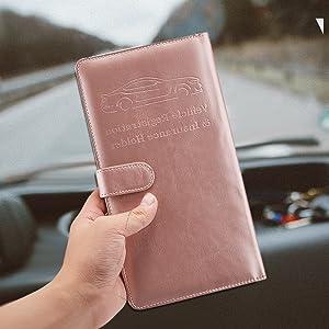 Car Registration & Insurance Card Holder