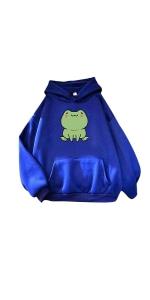 Long Sleeve Frog Hoodie Sweatshirt