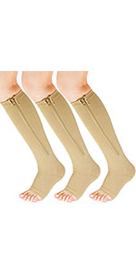 Compression Socks Women with Open Toe Toeless