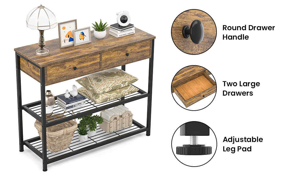 console table entryway table Sofa Table console table with drawers hallway table narrow
