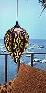 outdoor solar hanging lamps