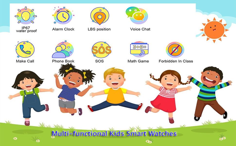 multi-functional kids smart watch