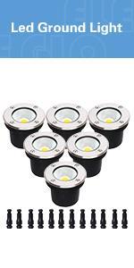 landscape light ground lights outdoor waterproof low voltage well lights landscape led step lights