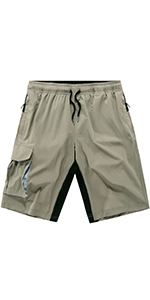 VtuAOL Men's Quick Dry Lightweight Hiking Shorts Outdoor Stretchy Running Cargo Shorts