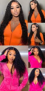 13x4 deep wave lace front wig