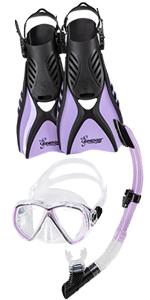 seavenger anti-fog snorkeling set