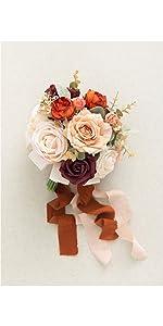 7-inch terracotta bridesmaid bouquet