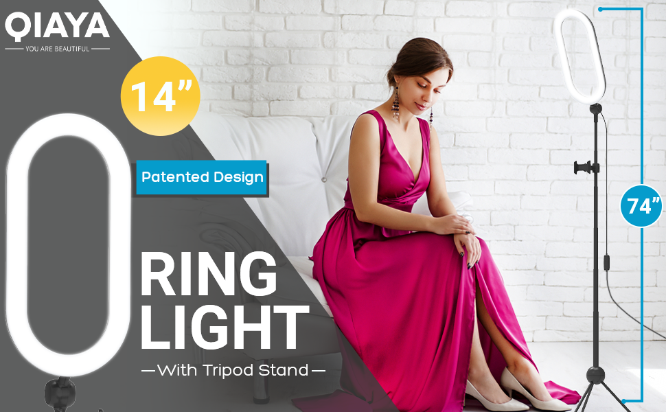 """14"""" Ring Light with Tripod Stand"""