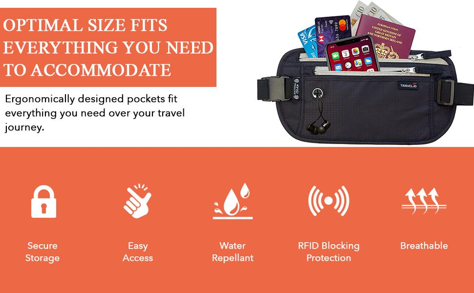 Optimal size fits verything you need to accomodate for your travels
