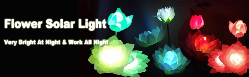 flower solar light