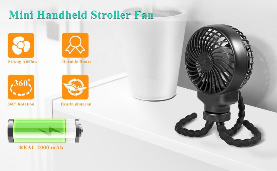 Mini Handheld Stroller Fan