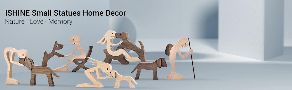 Human and Dog Sculpture Series