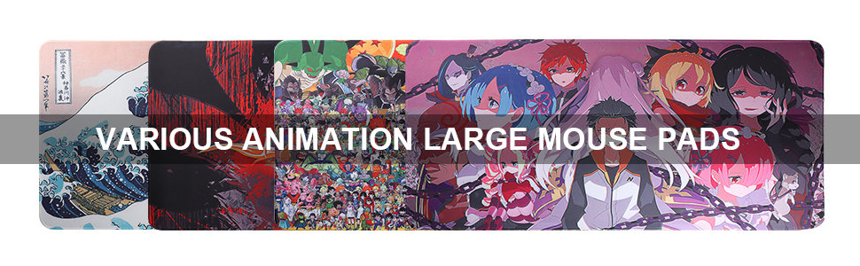 various anime mouse pad