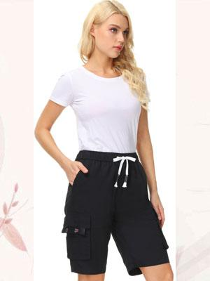 womens elastic waist black shorts women's elastic waist shorts elastic waist shorts for women