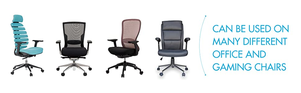 Details about  /2x Black Office Chair Armrests Replacement for Computer Chair 23x7.5cm