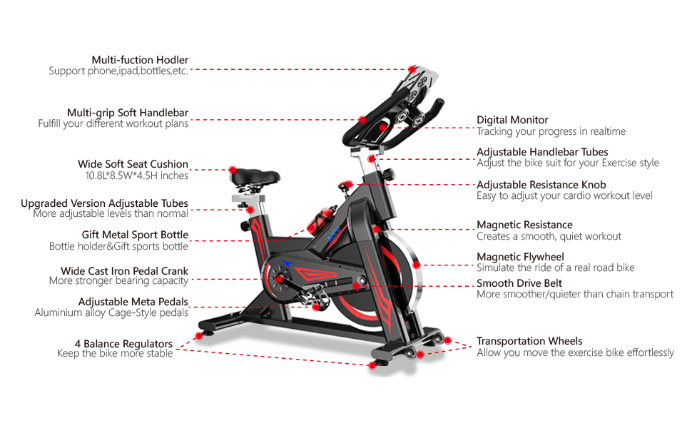 Magnetic Indoor Stationary Exercise Cycling Bikes
