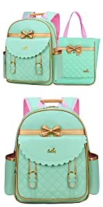 Girls Backpacks for School Princess Kids Bookbags  school bag