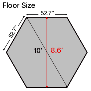 9018 floor size