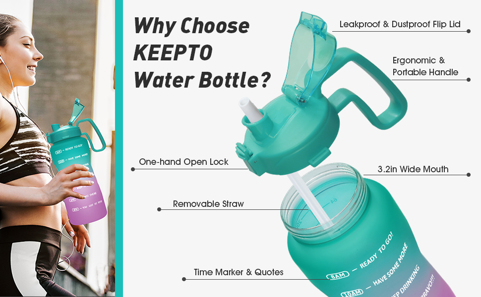 Why Choose KEEPTO Water Bottle?