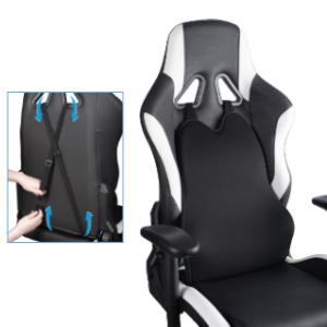 色々な用途や場所で使えます 付属のゴムバンドを取り付け、写真のようにカーシートやゲーミングチェア、椅子などに装着できます。 場所を問わずお好みでお使いいただくこともできます。