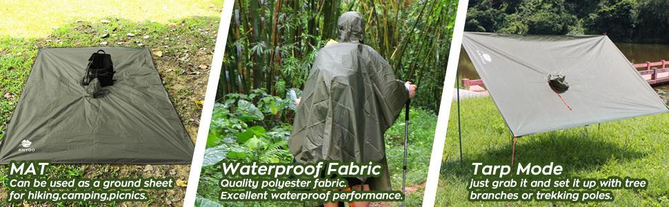 waterproof ponchos for rain