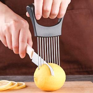 food slice assistant onion holder slicer