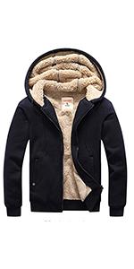 Winter Warm Fleece Sherpa Lined Hoodie