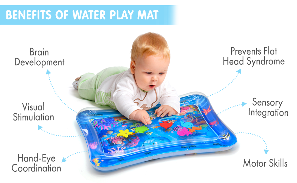 benefits of tummy time water play mat