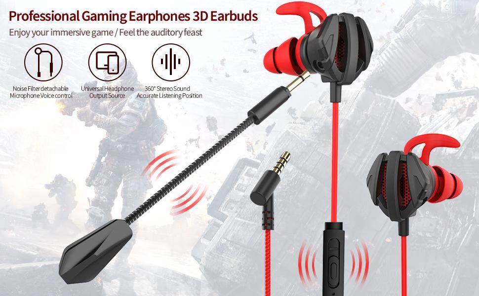 wired gaming earphones