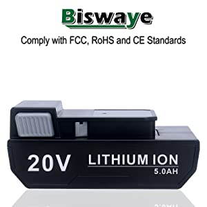 Biswaye 20V Lithium Battery Replacement for Hoover ONEPWR 20V Battery BH15030 BH25040 BH15260PC