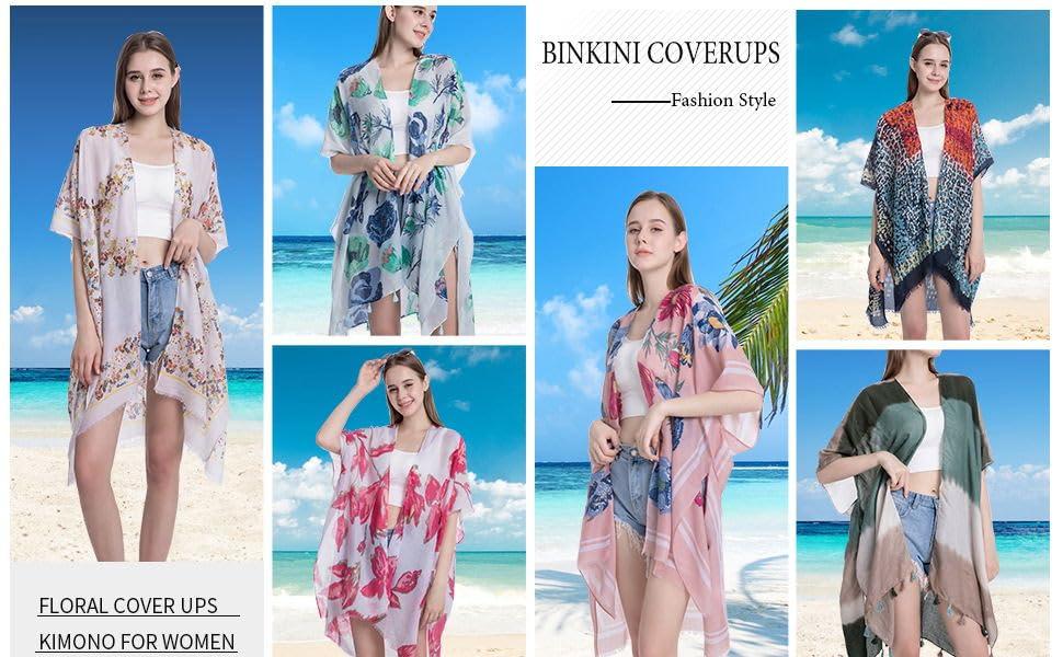 Wcxwzy Womenamp;amp;amp;#39;s Kimono Swimsuit Cover Ups Beach Cardiga