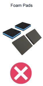 Comparison - Foam Pads