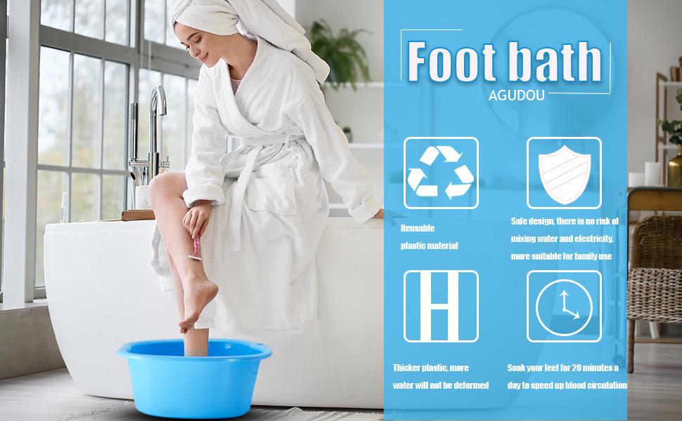 bassin de pied en plastique