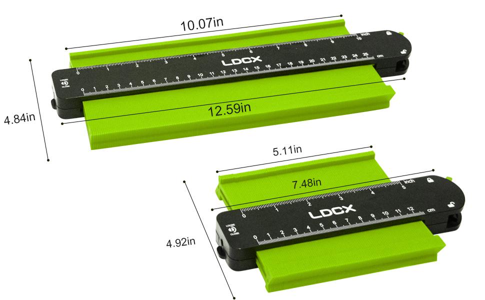 Contour Gauge Profile Tool Adjustable-Lock: Ldcx Precisely Copy Irregular Shape Duplicator