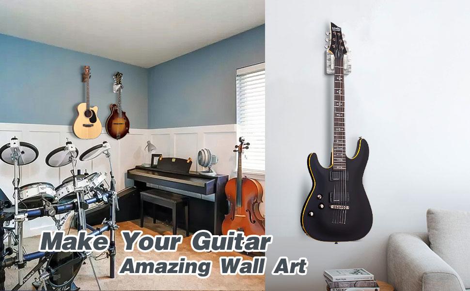 4 pack guitar wall hanger
