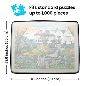 Puzzle Board measures 23.6 by 31.1 inches