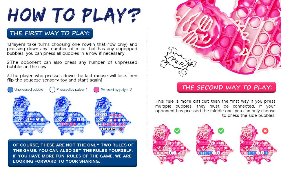 llama pop it fidget pack fidget toys Push Pop Fidget Spinners Pre-Kindergarten Toys