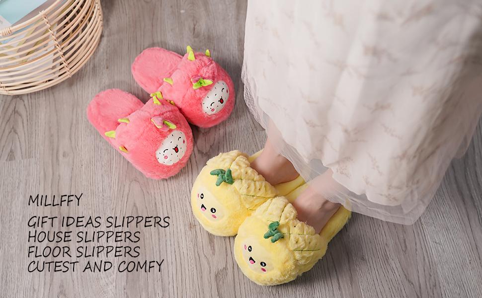 Fruit Avocado Slippers